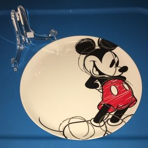 Mickey Mouse Plastic Plate + Stand